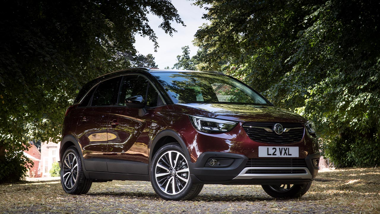 vauxhall crossland x, front, parked