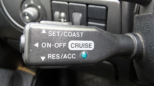 Cruise control stalk