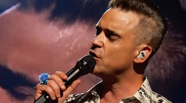 Robbie Williams singing