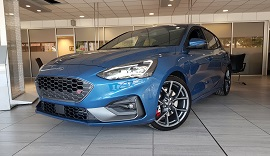 2019 Ford Focus ST in blue