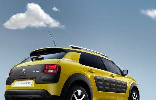 Yellow Citroen C4 Cactus