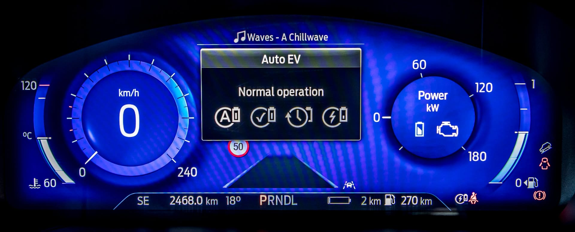Ford Hybrid Car Gauge Cluster Screen