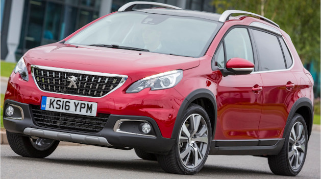 Red Peugeot 2008