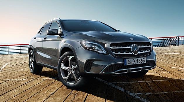 Grey Mercedes GLA