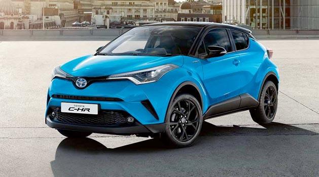 Blue Toyota C HR