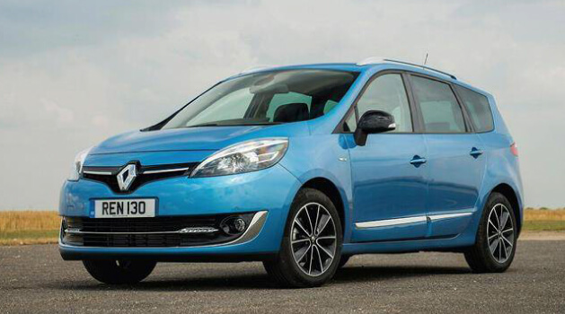 Blue Renault Grand Scenic