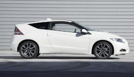 White Honda CRZ