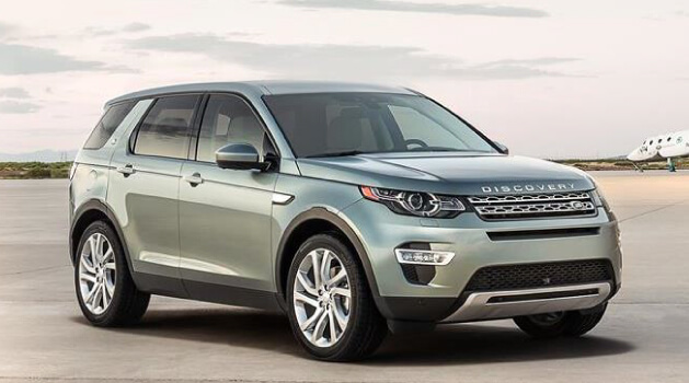 Silver Land Rover Discovery Sport
