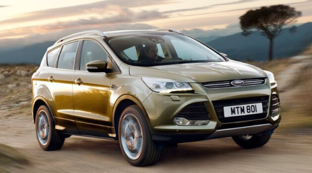 Gold Ford Kuga SUV