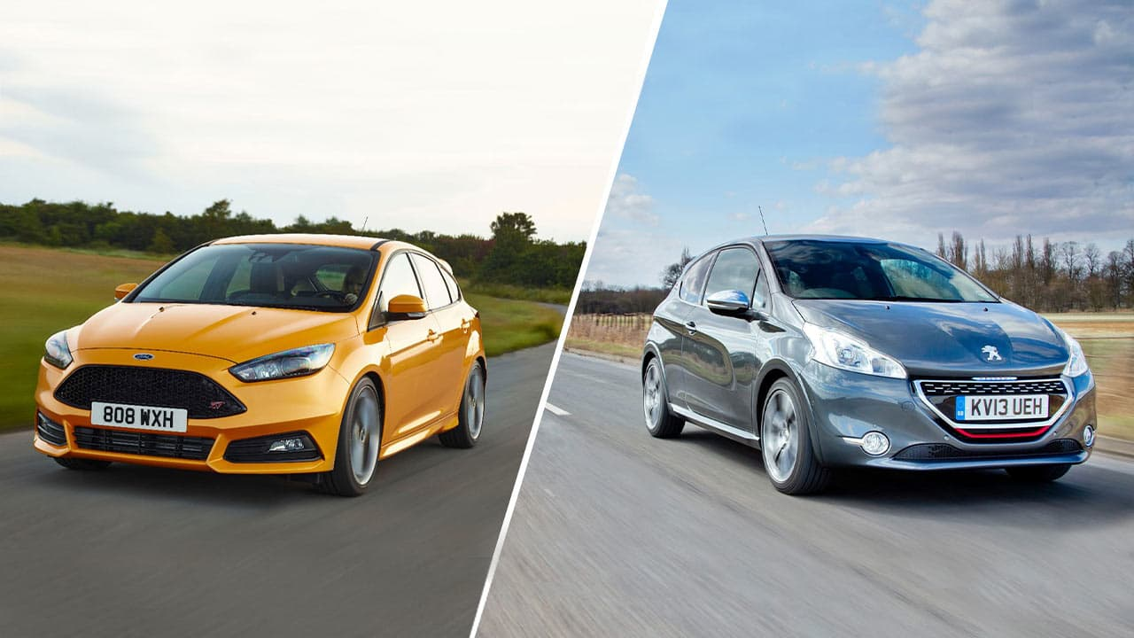 Ford Focus and Peugeot 208