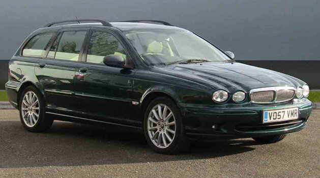 Green jaguar X Type
