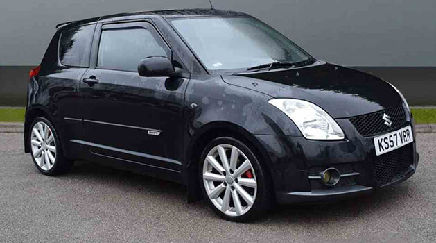 Black Suzuki Swift Sport