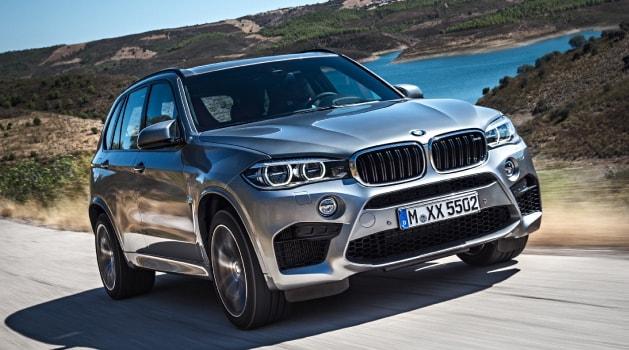 Silver BMW X5