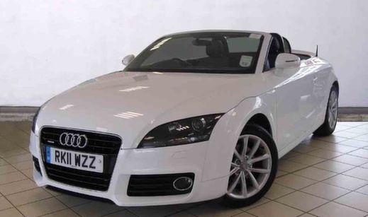 White Audi TT Convertible
