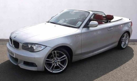 Silver BMW 1 Series Convertible