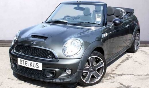 Black MINI Cooper S Convertible