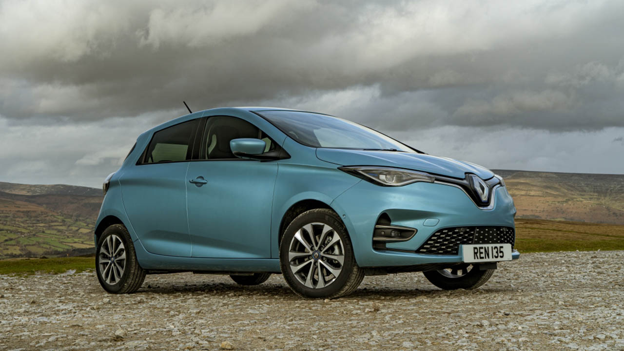 blue renault zoe, parked
