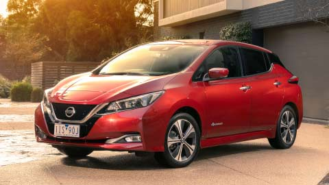 Red Nissan Leaf thumbnail