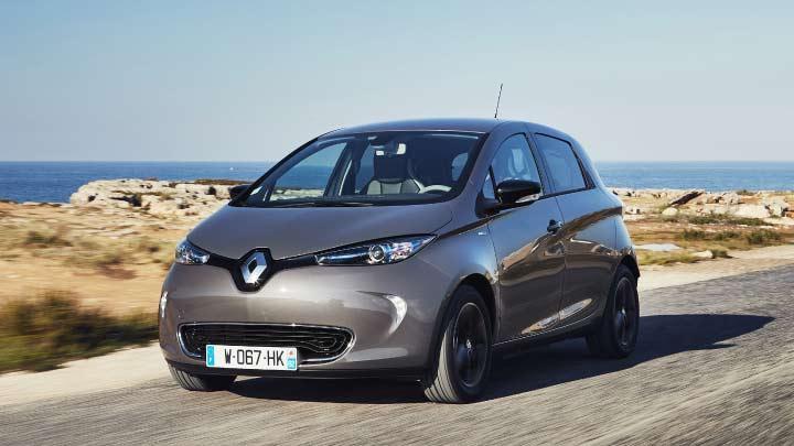 Grey Renault Zoe
