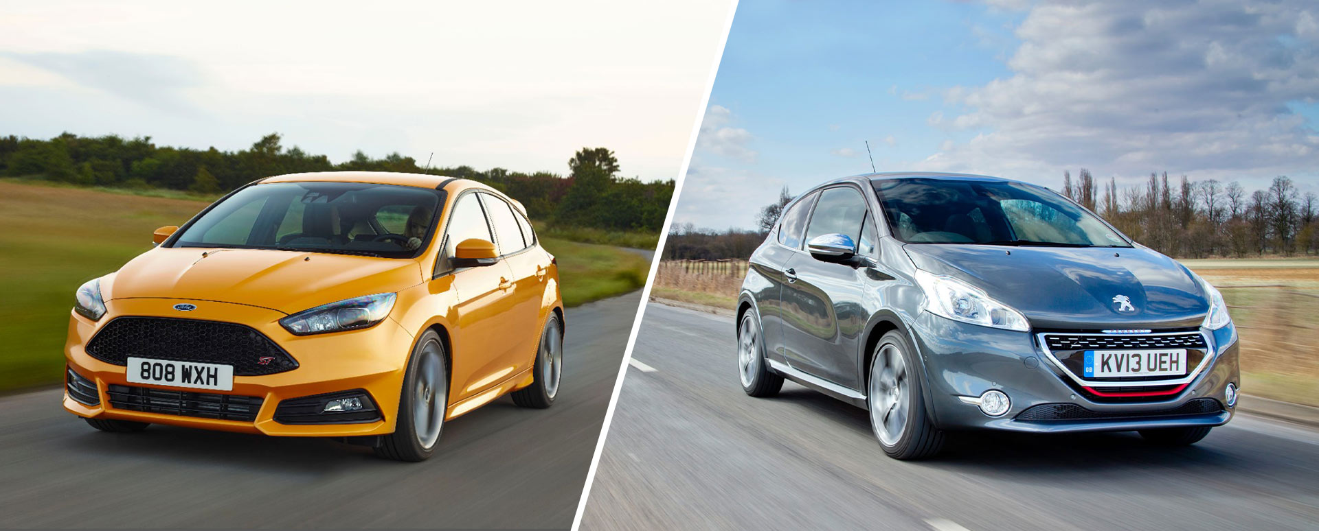 ford focus st and peugeot 208 gti carousel