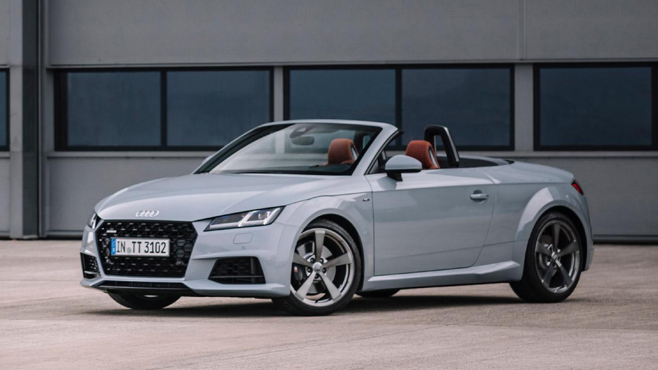 Grey Audi TT, parked