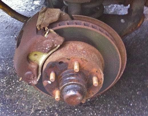 Worn Car Brakes