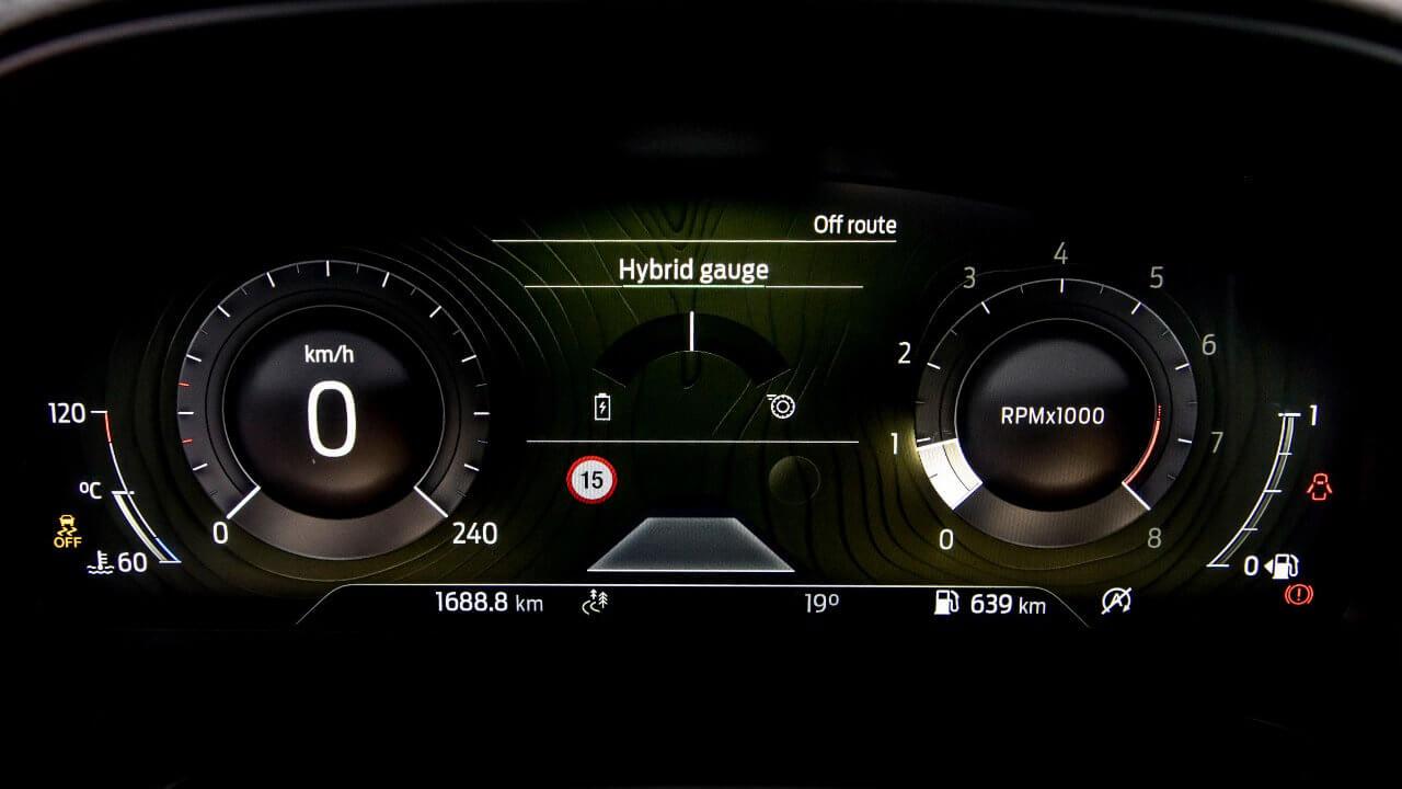 Ford Puma Mild Hybrid Gauges