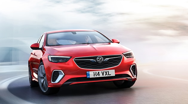 Red Vauxhall Insignia