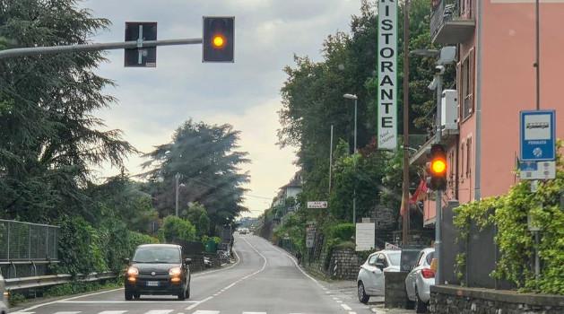 Flashing Amber Traffic Light