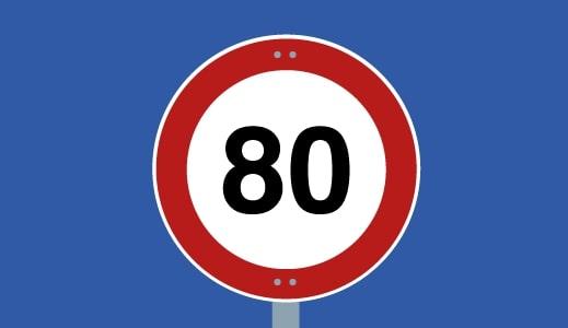 80 Kilometres Per Hour
