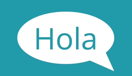 Hola Speech Bubble