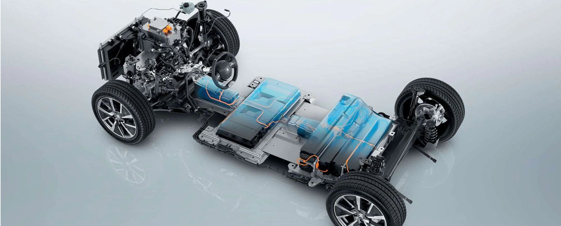 Peugeot Electric Car Battery Cutaway