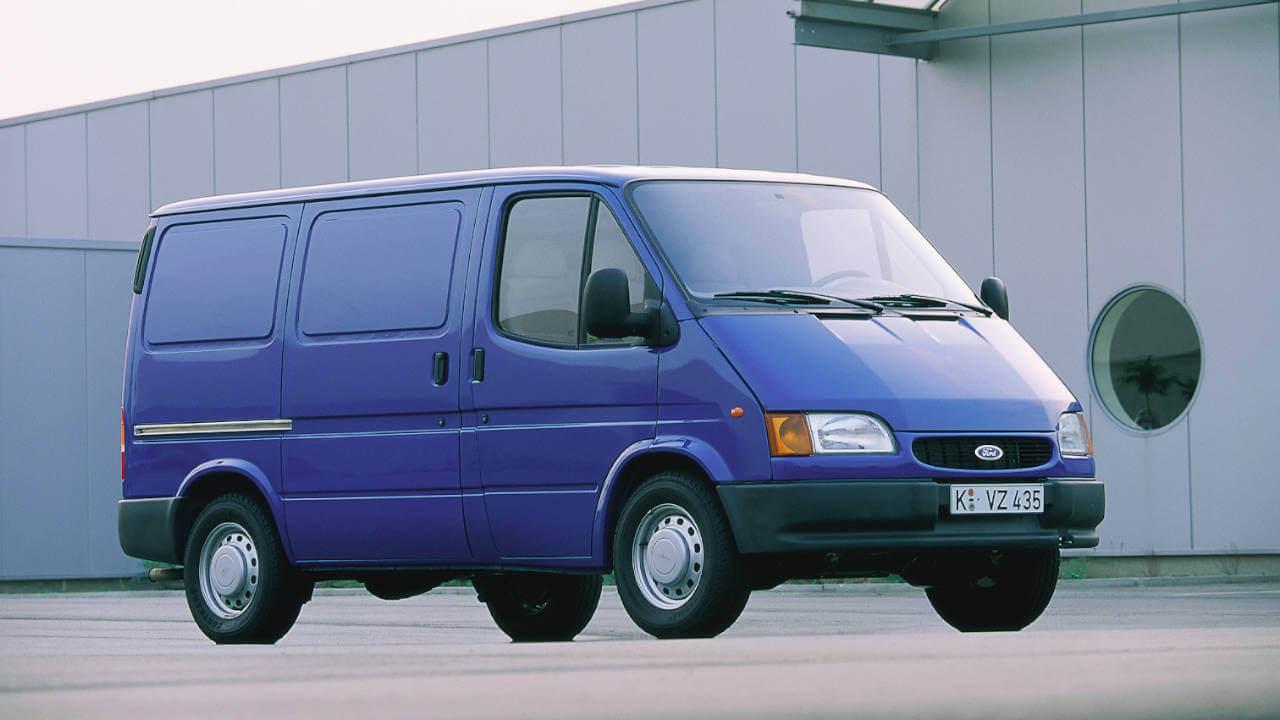Blue Ford Transit MK3