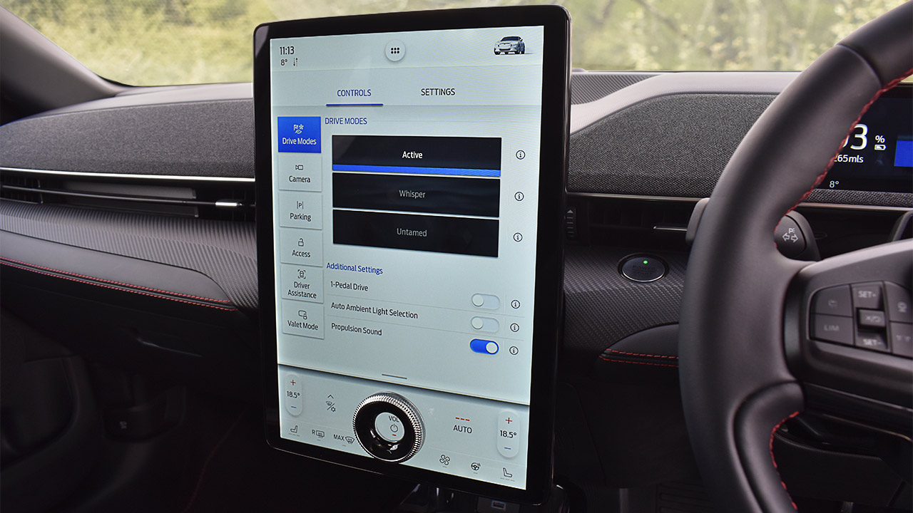 ford mustang mach-e sync 4 infotainment system, interior