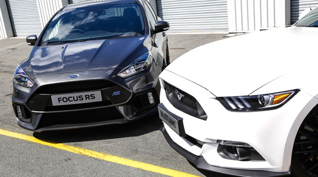 Focus RS Grey and White Mustang