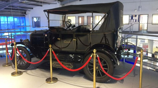Ford Model T in showroom
