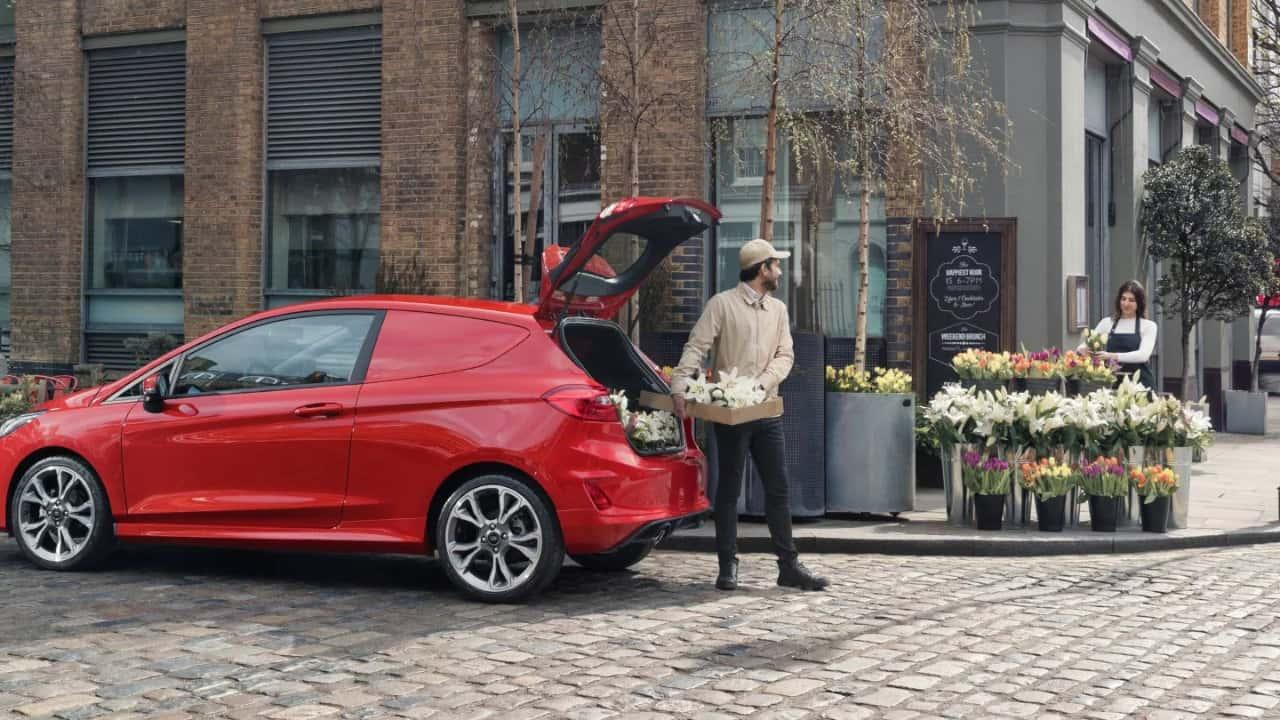 Ford Fiesta Van Loading Flowers