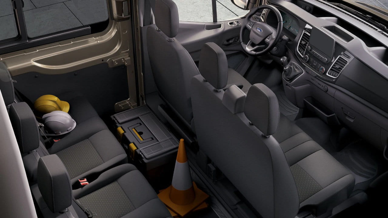 Ford Transit Double Cab Interior