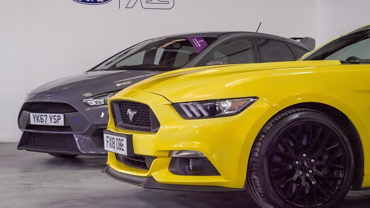 Ford Mustang and Ford Focus RS