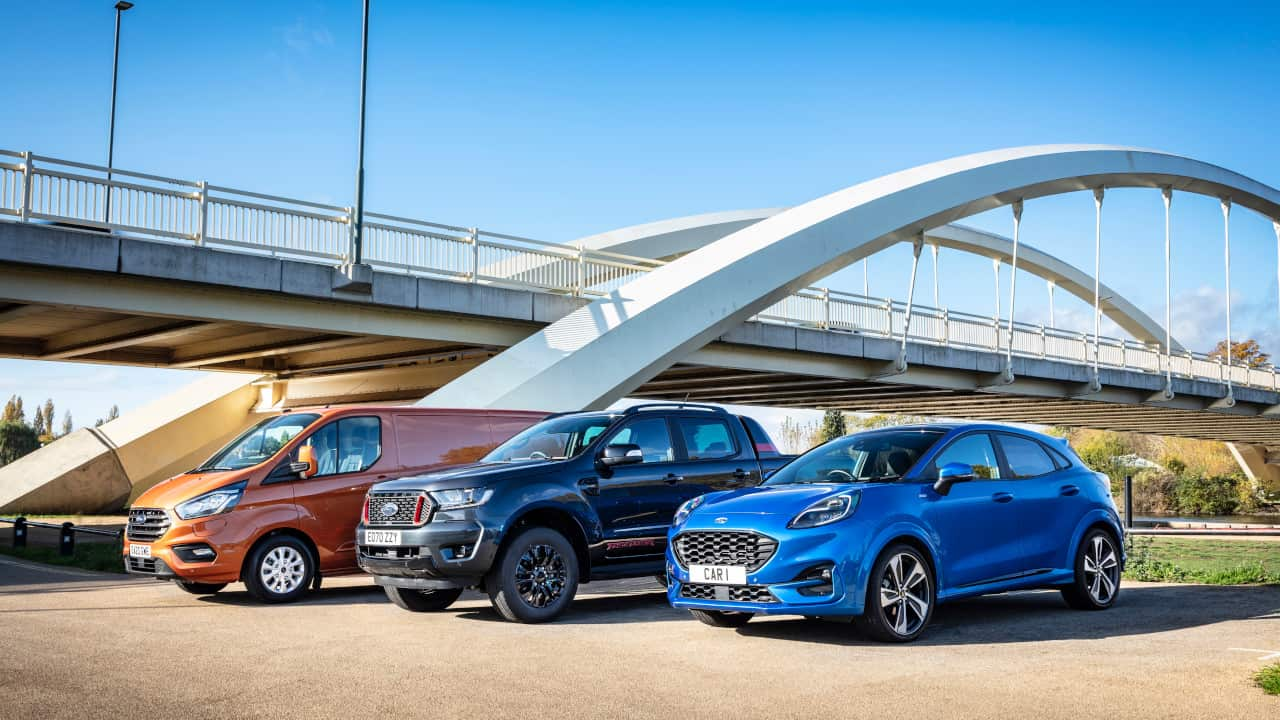 Ford Range of Vehicles Car Pickup Van