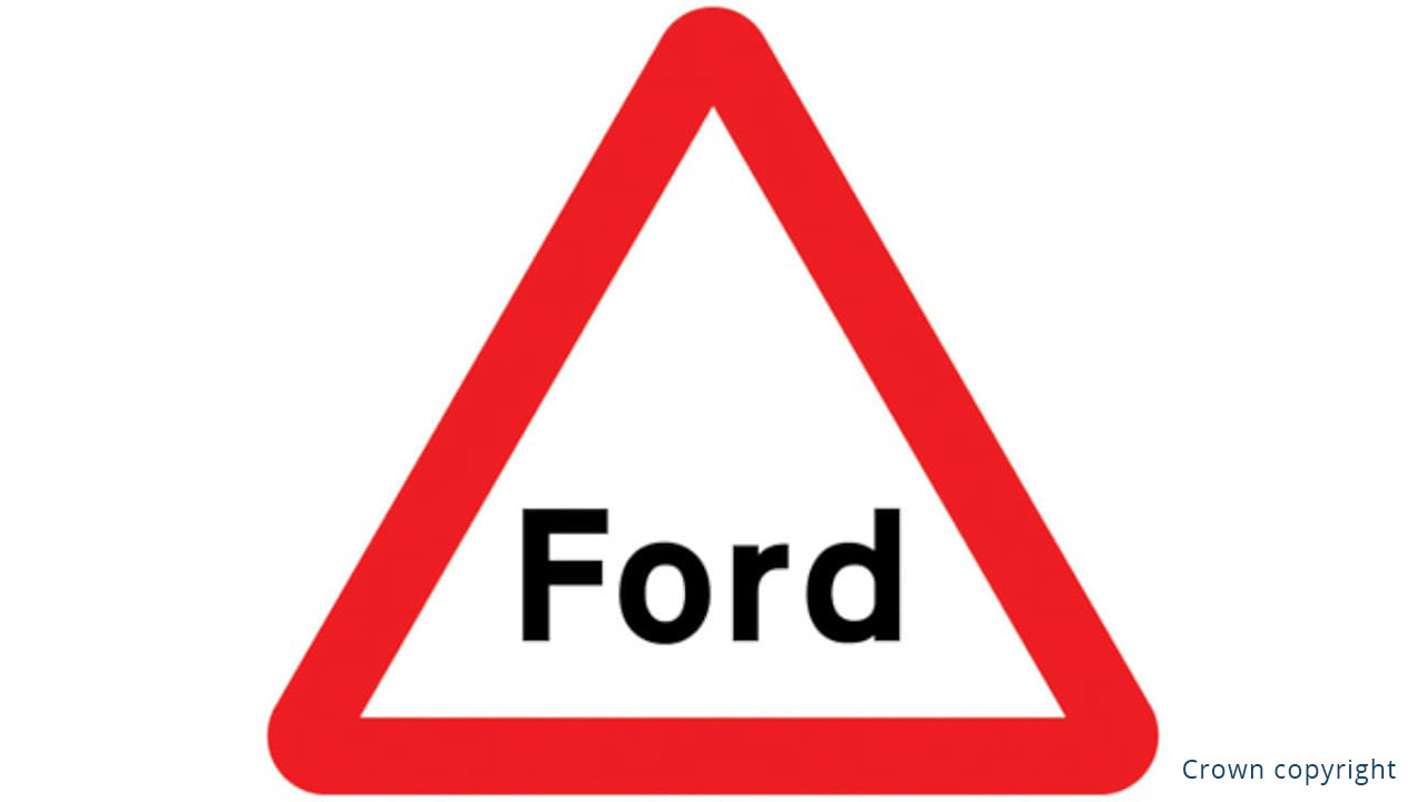 Ford Warning Sign