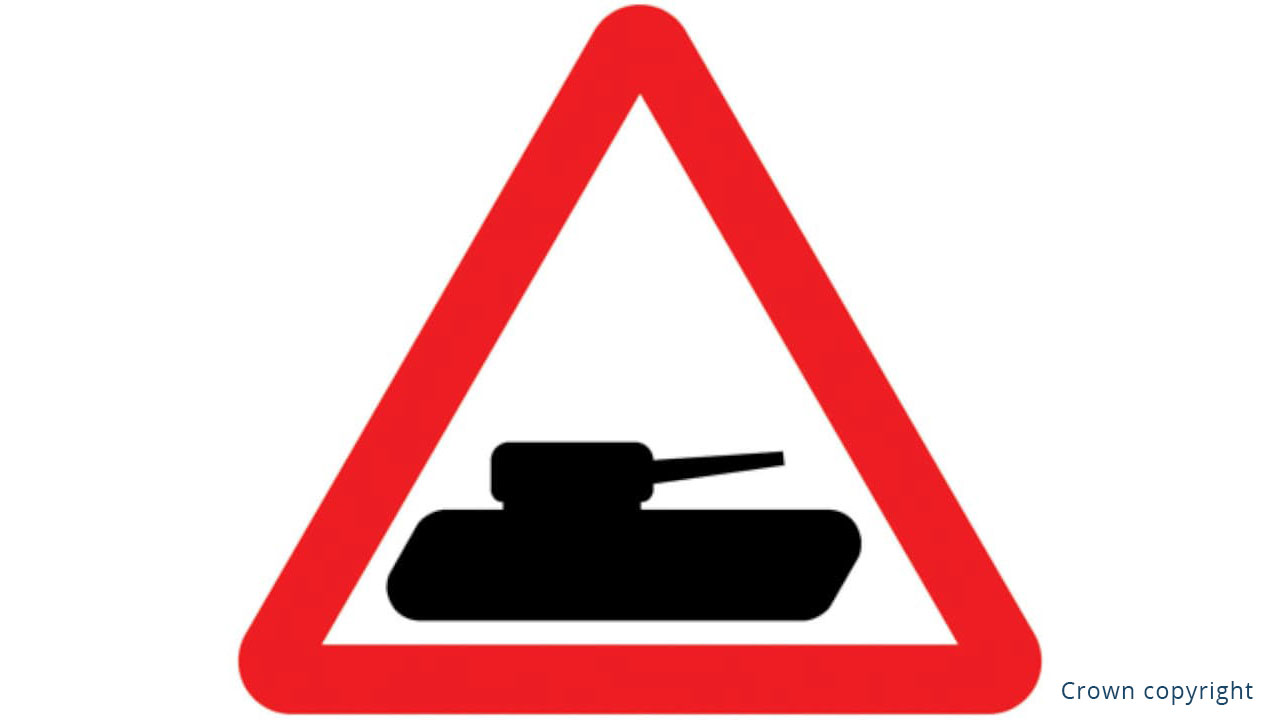Tank Warning Sign