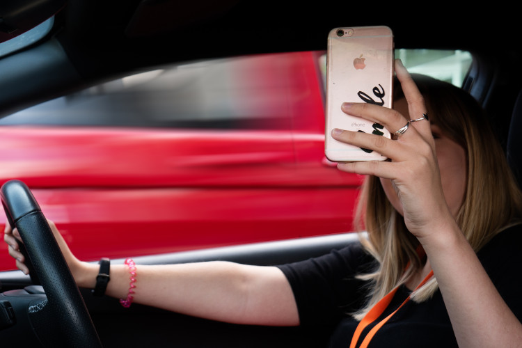 Taking a Selfie While Driving