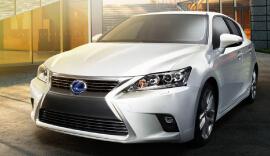 Silver Lexus Hybrid