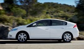 White Honda Insight