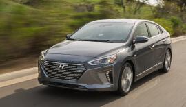 White Hyundai Ioniq