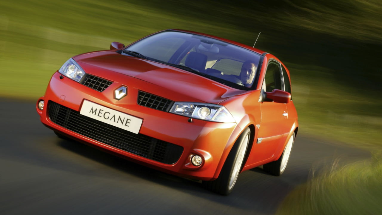 Orange Renault Megane II Renault Sport Driving