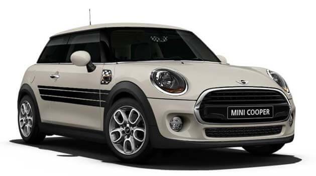 White MINI Cooper