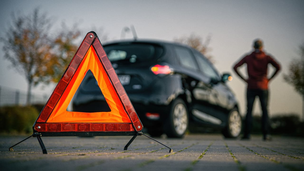 Vehicle Hazard Warning Triangle