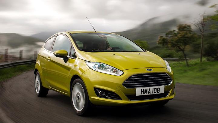Yellow Ford Fiesta